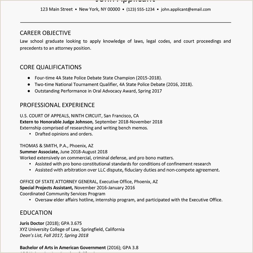 Latest Cv format India Law School Student Resume Example