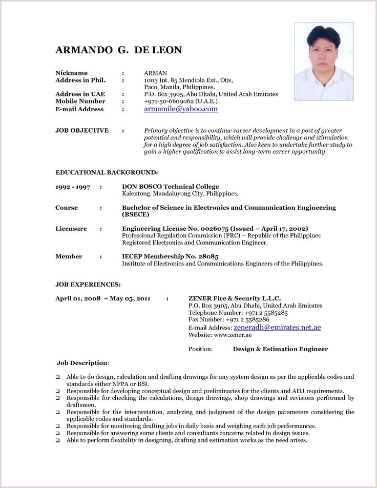 Latest Cv Templates