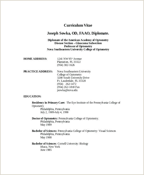 Latest Cv Sample Download New Format Standard Resume Format Elegant Example Template