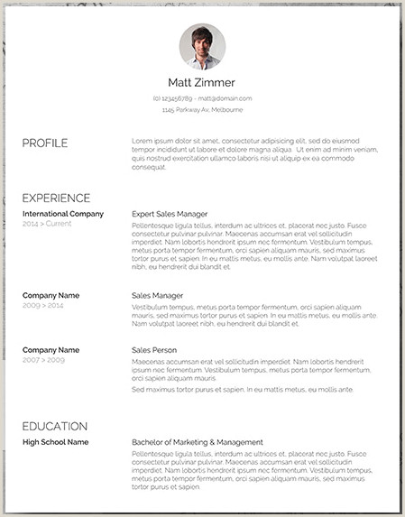 Latest Modern Cv Format 25 Free Resume Templates For Microsoft Word & How To Make