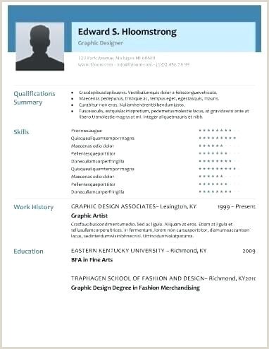 Modern Resume Templates Examples Free Download Glimmer