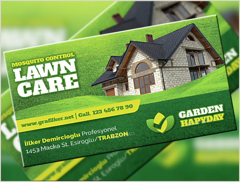 15 Landscaping Business Card Templates Word PSD