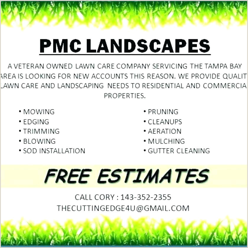 Free Download Landscaping Business Estimate Template