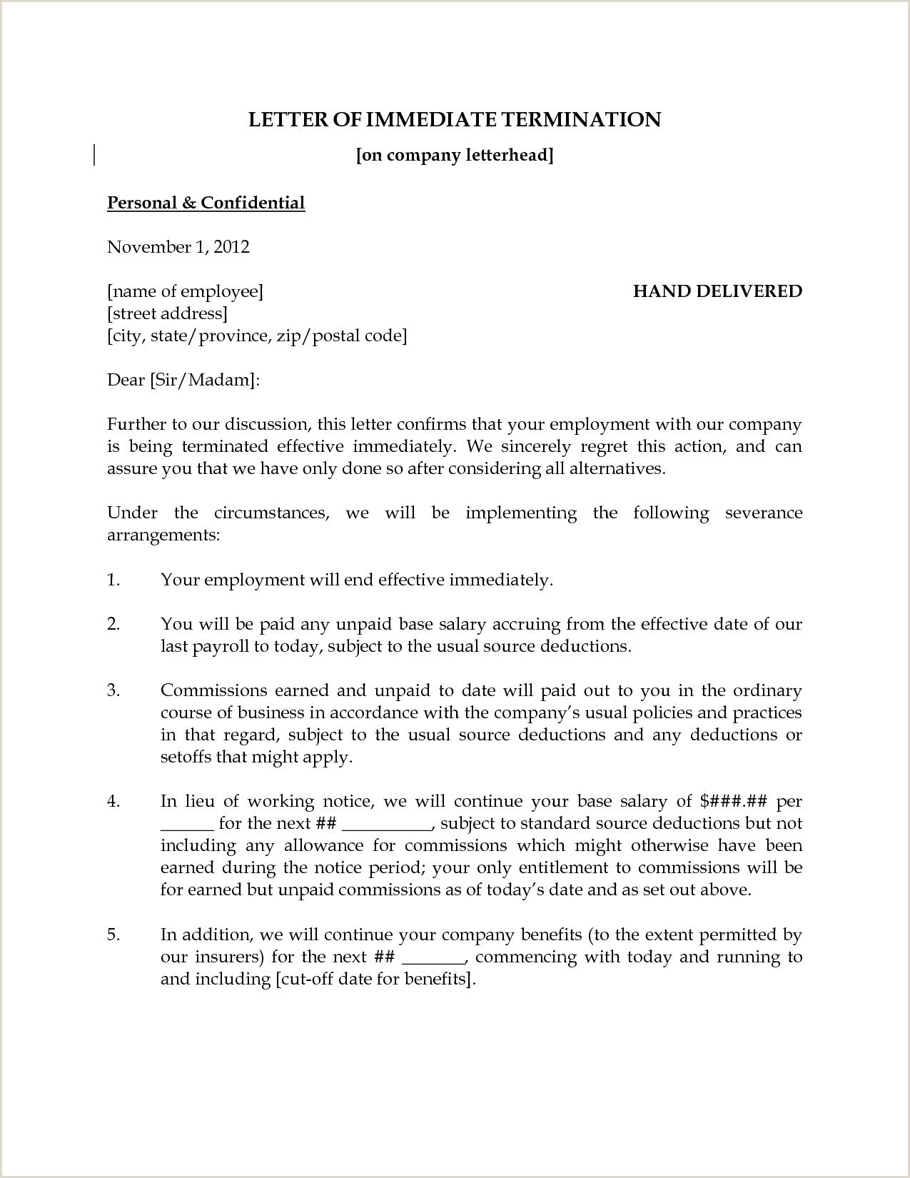 Layoff Letter Example Sample Layoff Letter