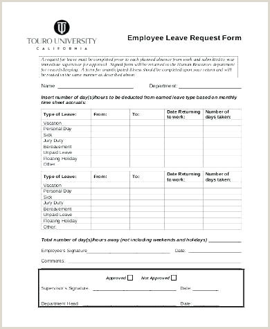 Annual Leave Request Form Template Free For Employee Sample