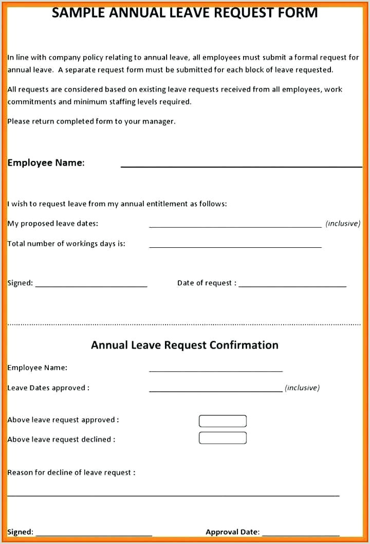 Leave Absence Letter Form Template Philippines Agreement