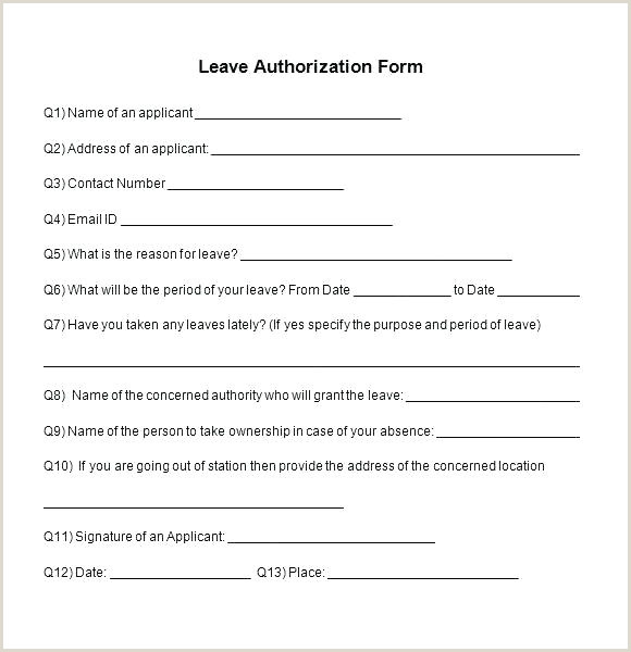 Leave Absence Template Wedding Planning Contract Medical