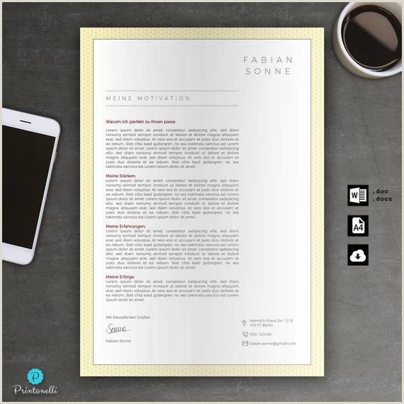Bewerbung Vorlage Deckblatt Lebenslauf Anschreiben für Word Sofort digitaler Download