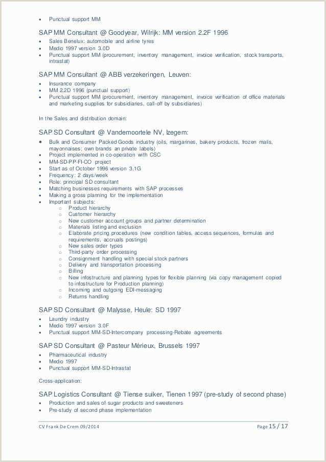 15 Probe Management Consulting Lebenslauf