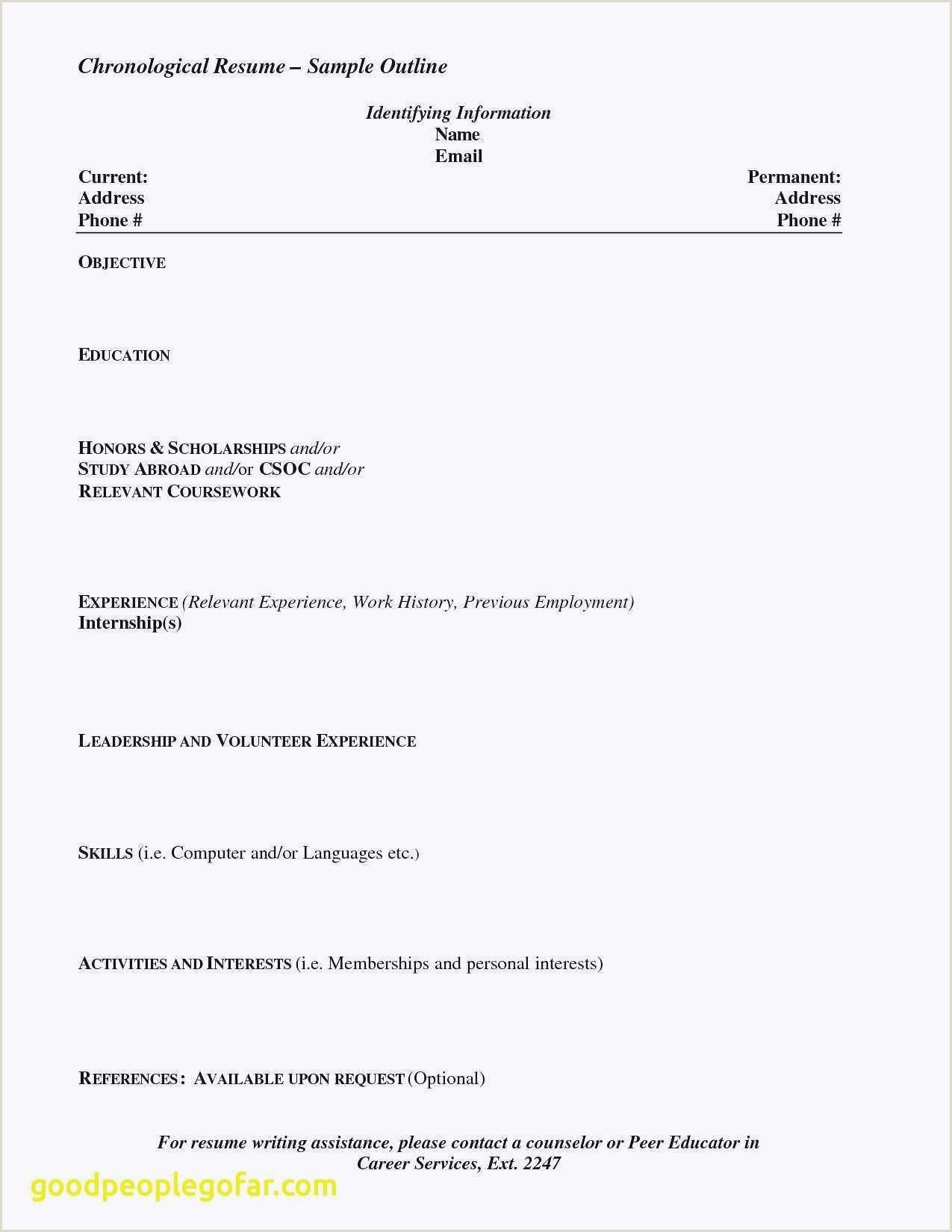 Lebenslauf Layout Unglaubliche Best Resume For Highschool