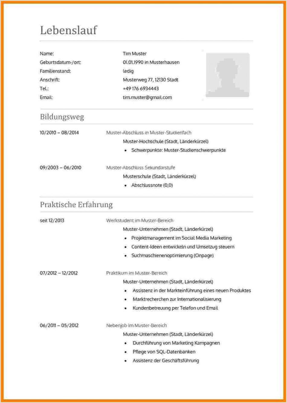 Lebenslauf Luxemburg Muster 15 Lebenslauf Beispiel Doc