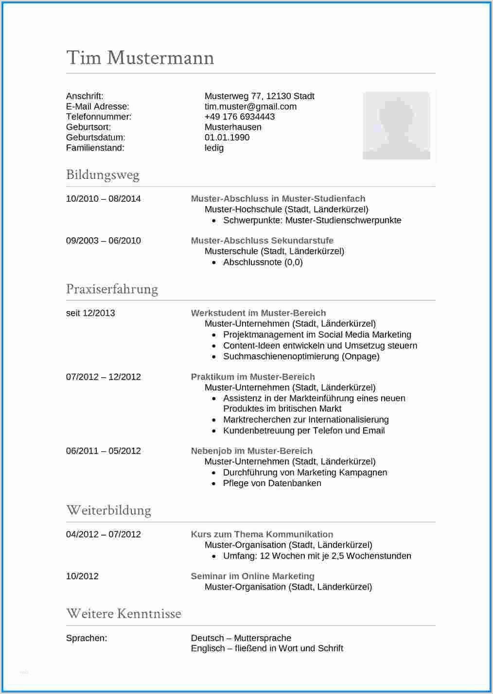 Lebenslauf Muster Akademiker 15 Tabellarischer Lebenslauf Uni Vorlage Lebenslauf Muster