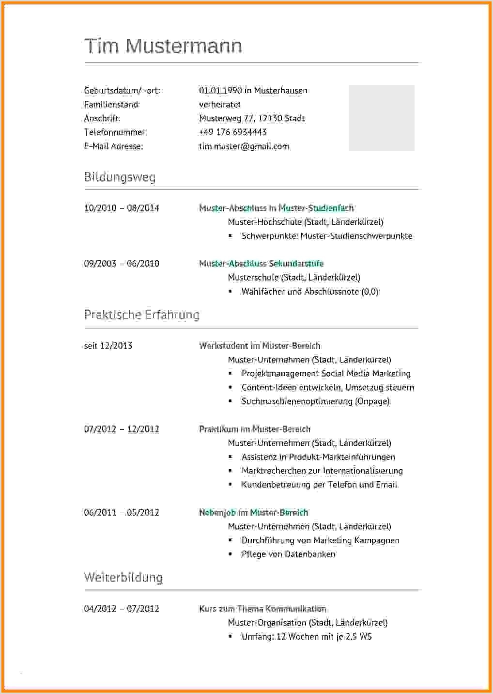 Lebenslauf Muster Arbeitssuchend Großartige College Lebenslauf Beispiele 12