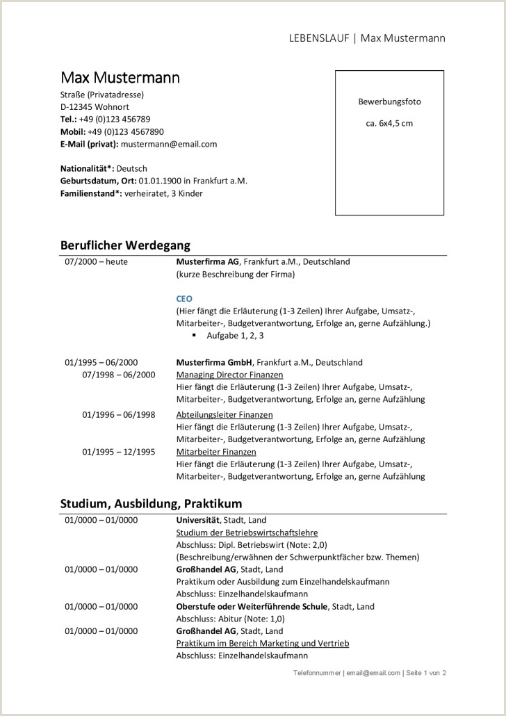 Lebenslauf Muster Berufserfahrene Kostenlos Kostenlose Lebenslauf Vorlagen Für Berufstätige Von Applijo