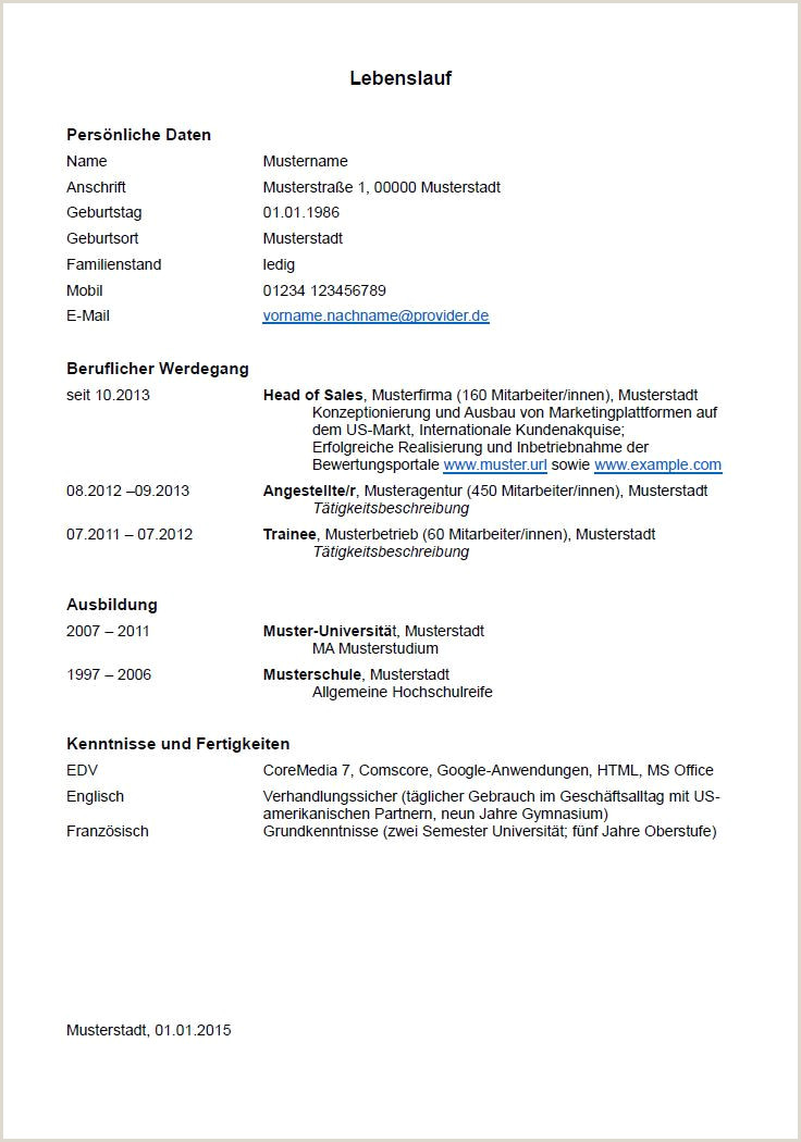 Lebenslauf Muster Bundesagentur Für Arbeit 14 Arbeitsamt Bewerbung