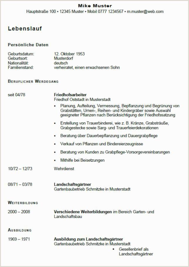 16 deutscher lebenslauf