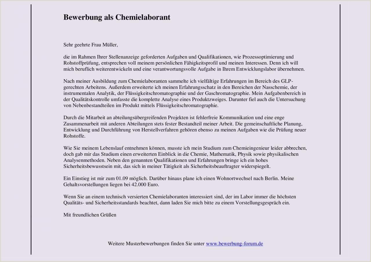 chemielaborant bewerbung muster und tipps Muster Lebenslauf