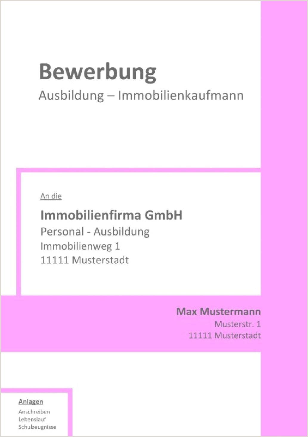 Ausbildung Muster Deckblatt Bewerbung Ohne 44 Vorlage Für