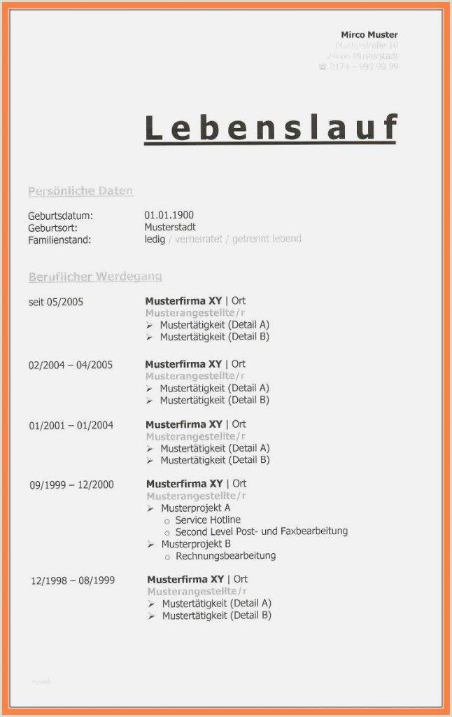 Lebenslauf Muster Deutschland Word 20 Tabellarischer Lebenslauf Vorlage Word Cankiriarge