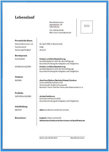 Lebenslauf Muster Doc 0 C angelinna Lebenslauf Muster