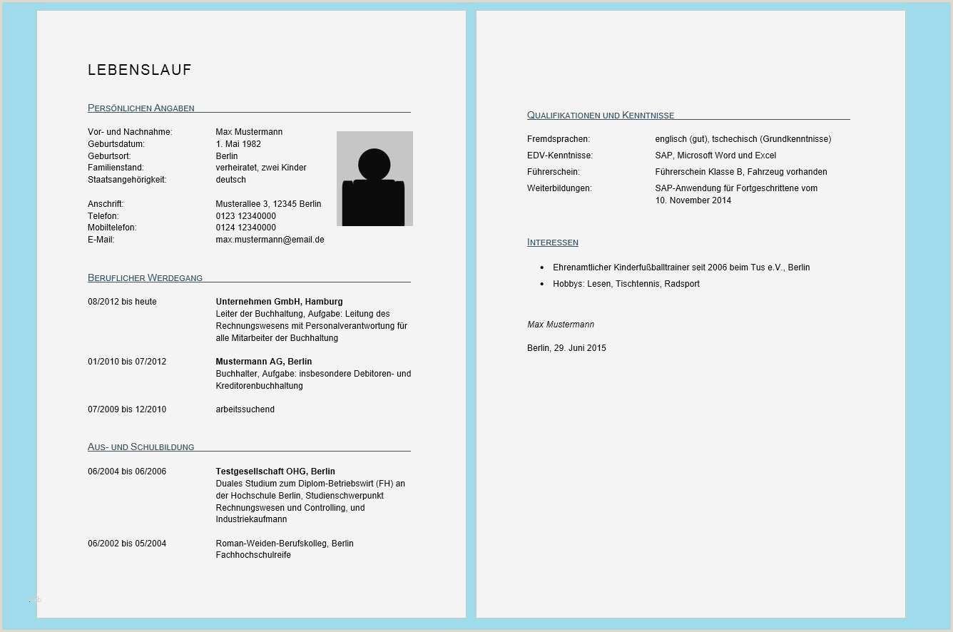 Lebenslauf Muster Download Pdf 14 Tabellarischer Lebenslauf Vorlage Pdf