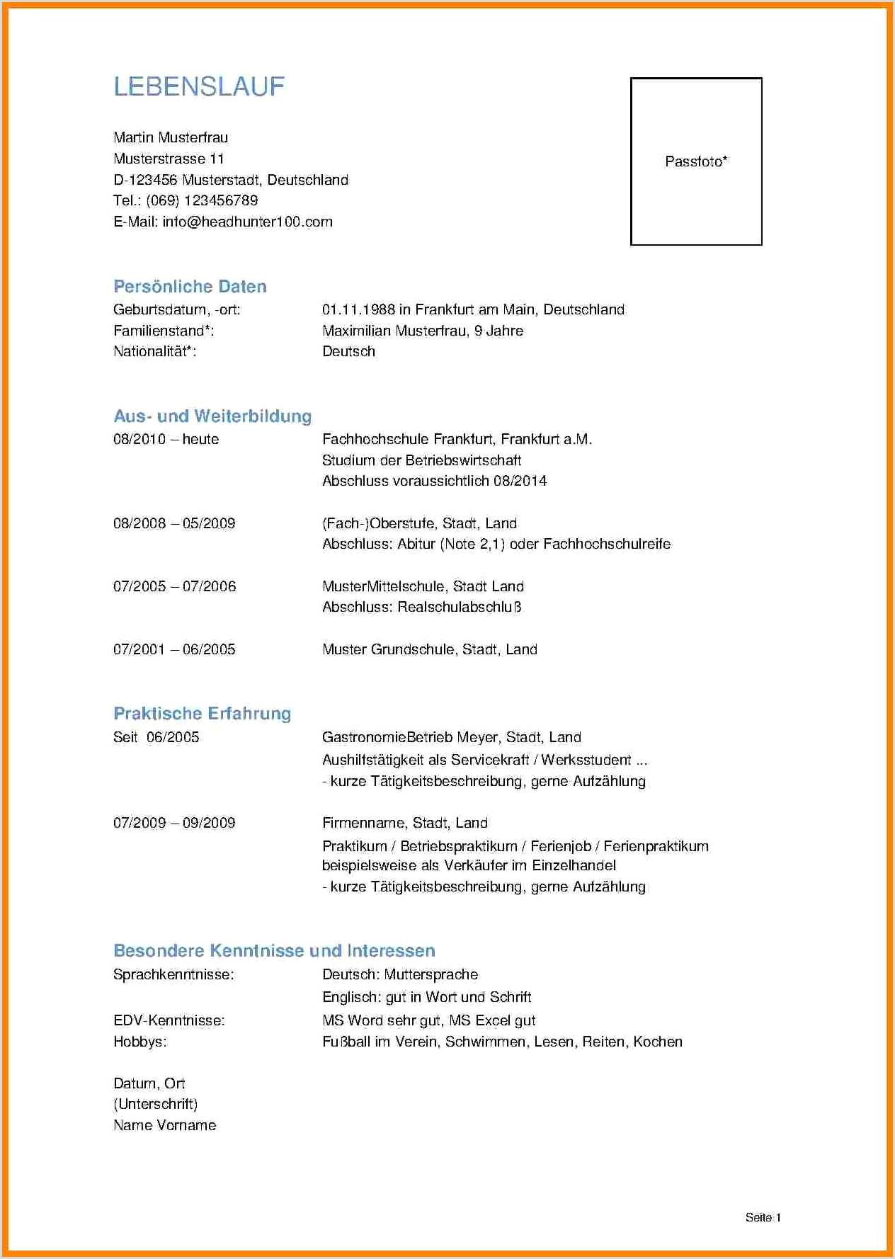 Lebenslauf Muster Einbürgerungsantrag 21 Unterschrift Lebenslauf Wohin Reference3d