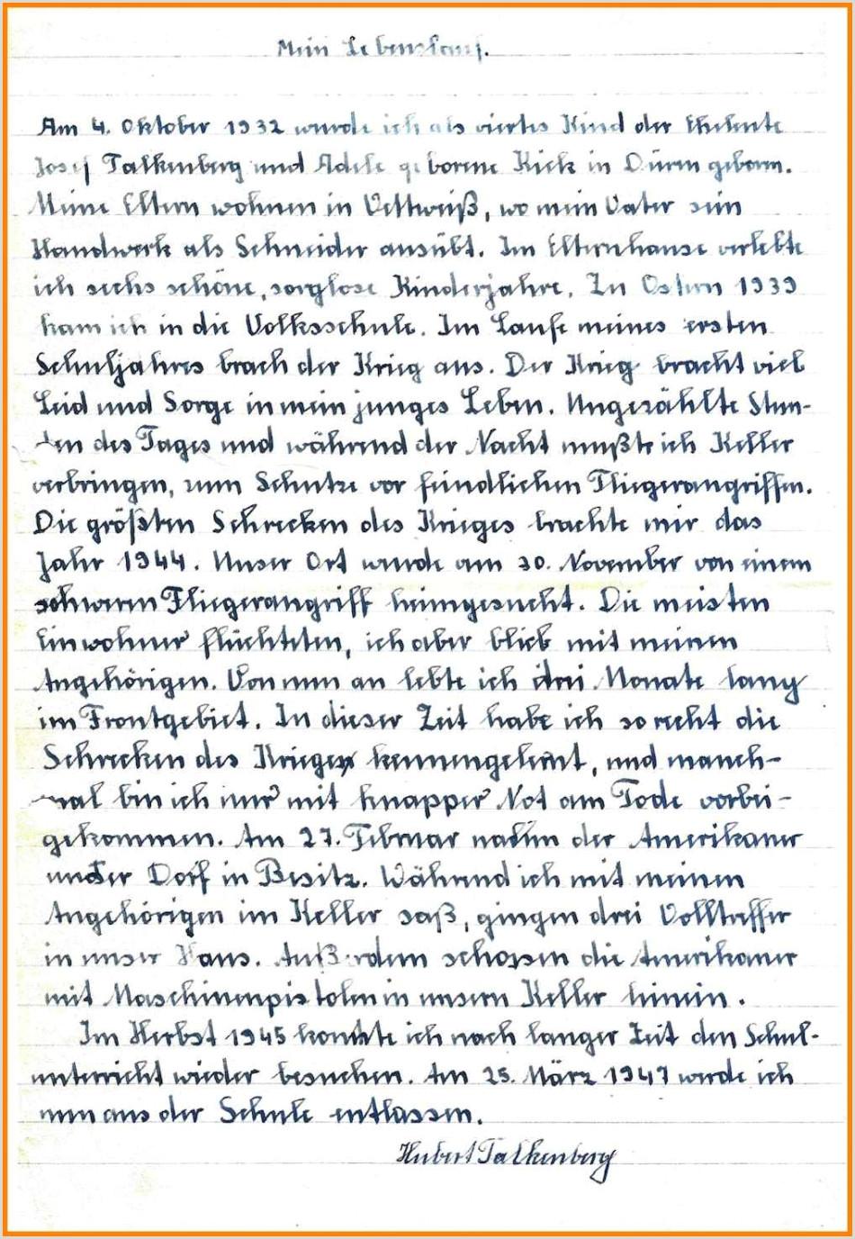 Lebenslauf Muster Für Studium 15 Handgeschriebener Lebenslauf Muster