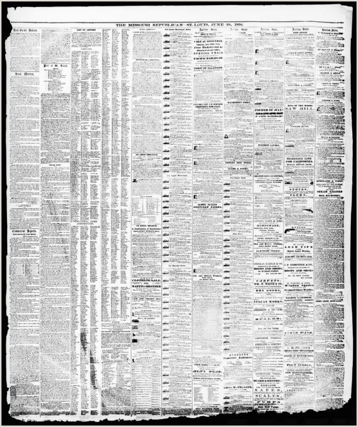 Daily Missouri Republican Saint Louis Mo 1856 06 28