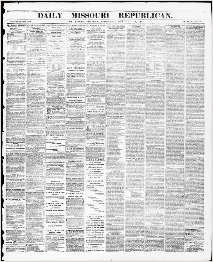 Daily Missouri Republican Saint Louis Mo 1861 10 11