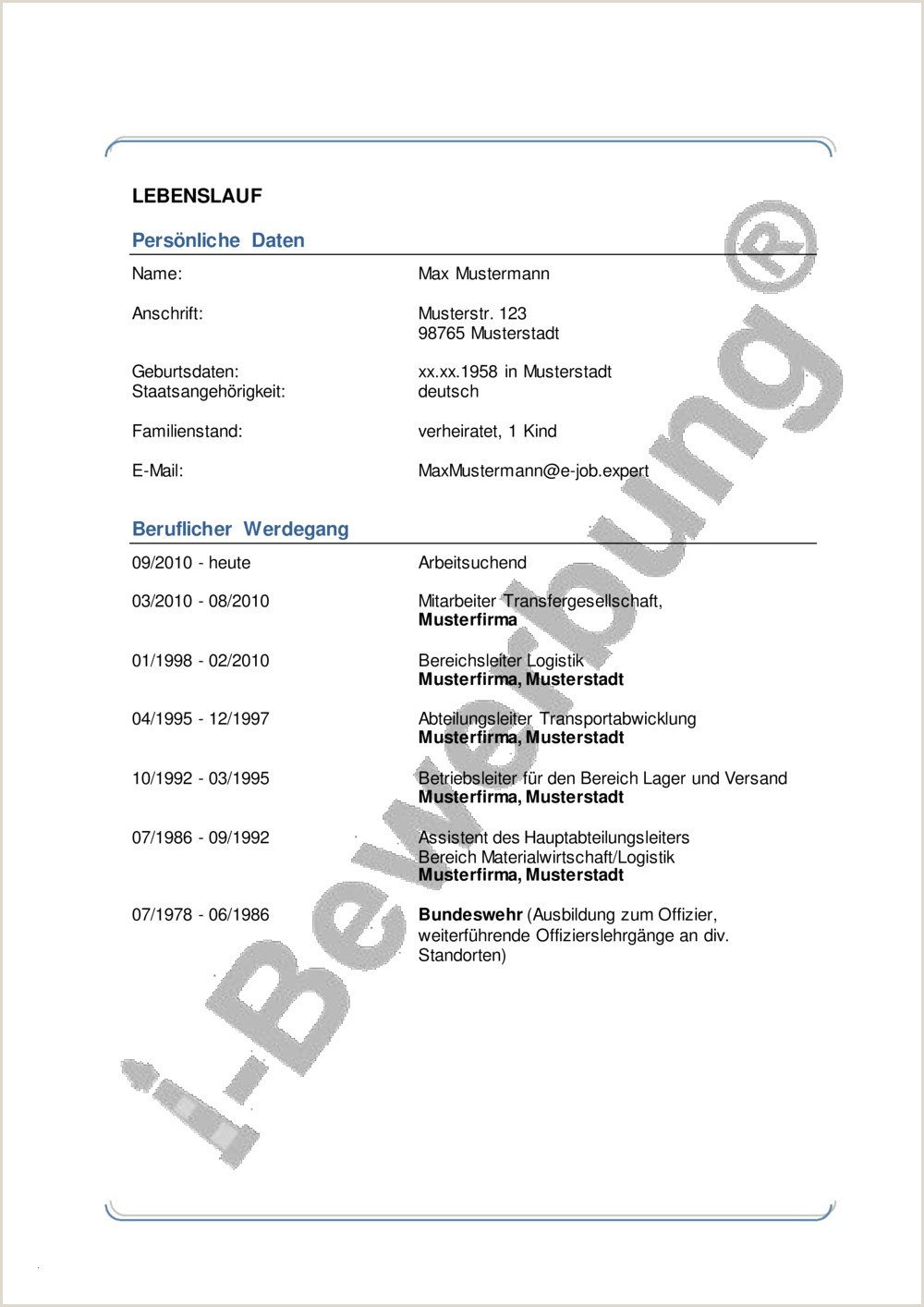 Lebenslauf Muster Germanistik Büroassistent Lebenslauf Probe Pdf 6