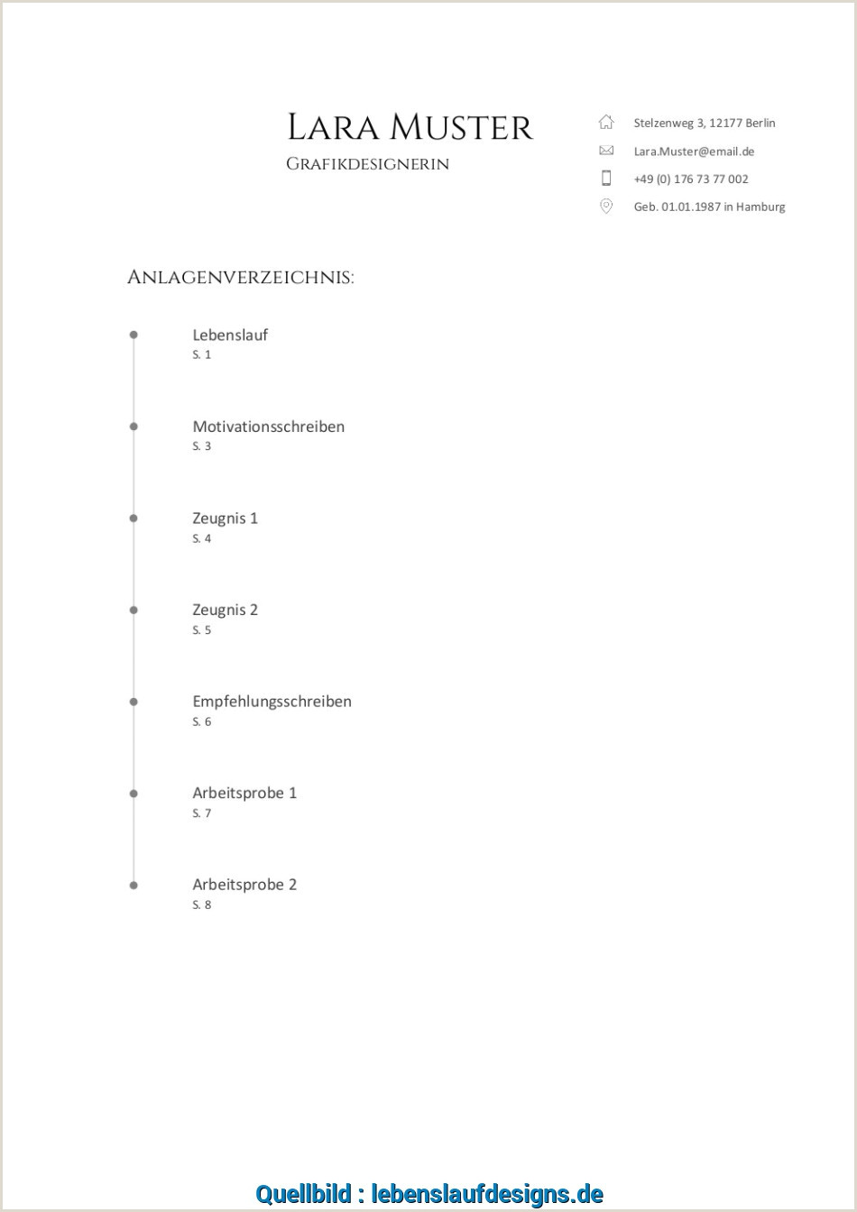 Lebenslauf Muster Hesse Schrader Komplett Anlagenverzeichnis Muster Vorlage 7 Sapcnz