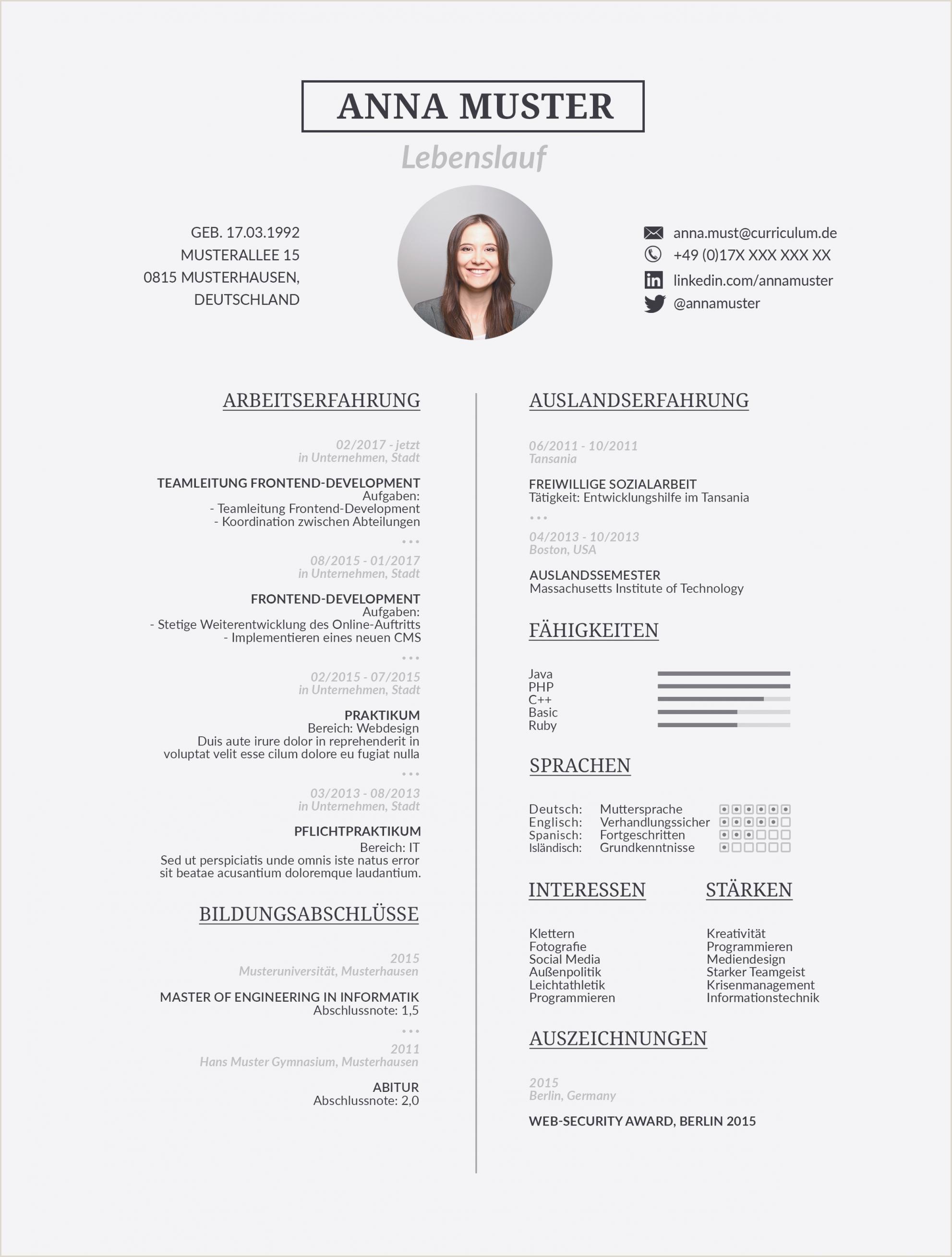Lebenslauf Muster Latex 15 Latex Bewerbungsvorlage