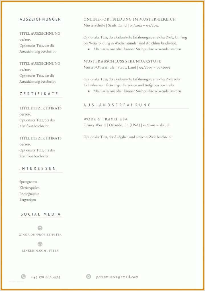 Lebenslauf Muster Linkedin Modisch Vorlage Lebenslauf Sie Kennen Müssen