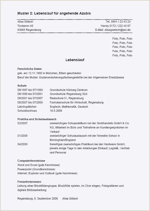 Tabellarischer Lebenslauf Meisterschule Resume Template line