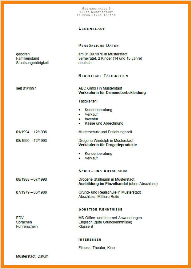 Lebenslauf Muster Nebenjob Lebenslauf Aushilfe Facharbeit Anästhesie Und Intensivpflege