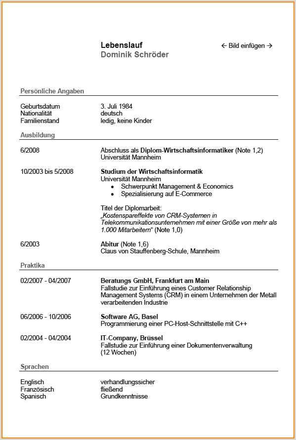 Lebenslauf Muster Oberarzt 14 Tabellarischer Lebenslauf Vorlage Pdf