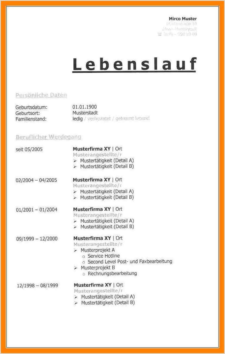 Lebenslauf Muster Oesterreich 10 Lebenslauf Muster Kostenlos Download townandlimo