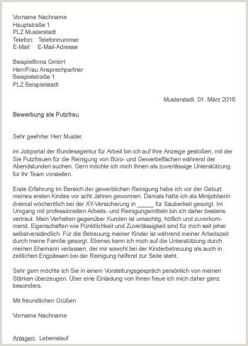 37 Schön Galerie Von Bewerbung Als Putzfrau