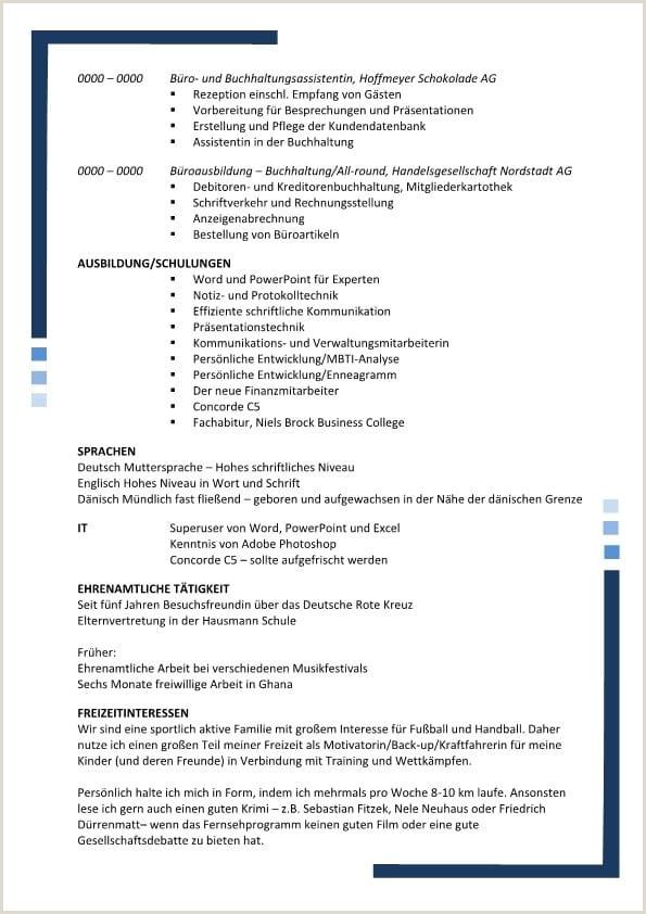 Lebenslauf Muster Rezeptionistin 15 Lebenslauf 2 Seiten Muster