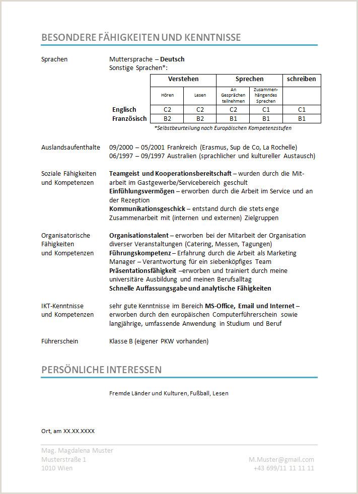 Lebenslauf Muster Sprachen 12 Französischer Lebenslauf Muster