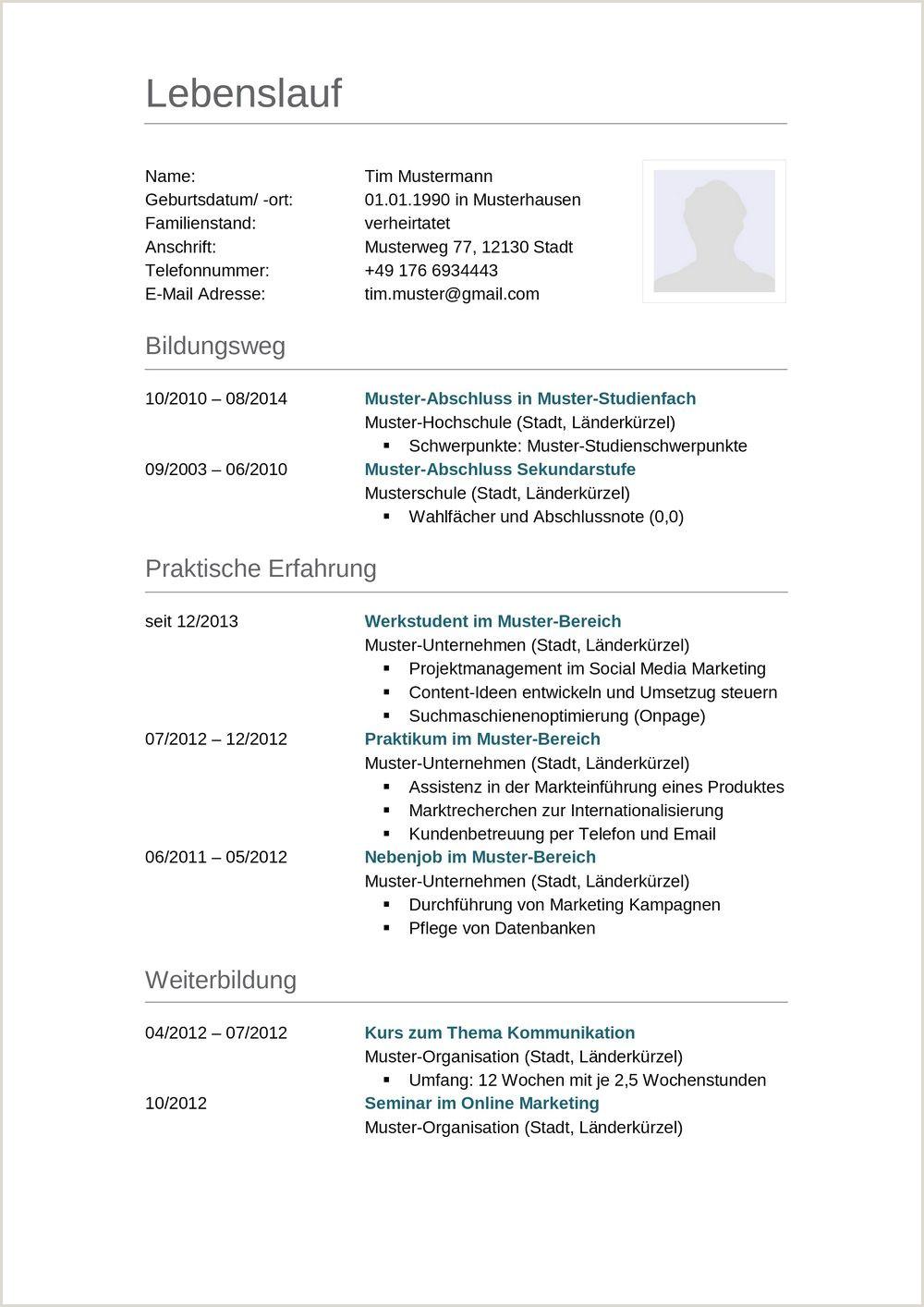 Lebenslauf Muster Tabellarisch Schüler 1 Mahnung Muster 2019 01
