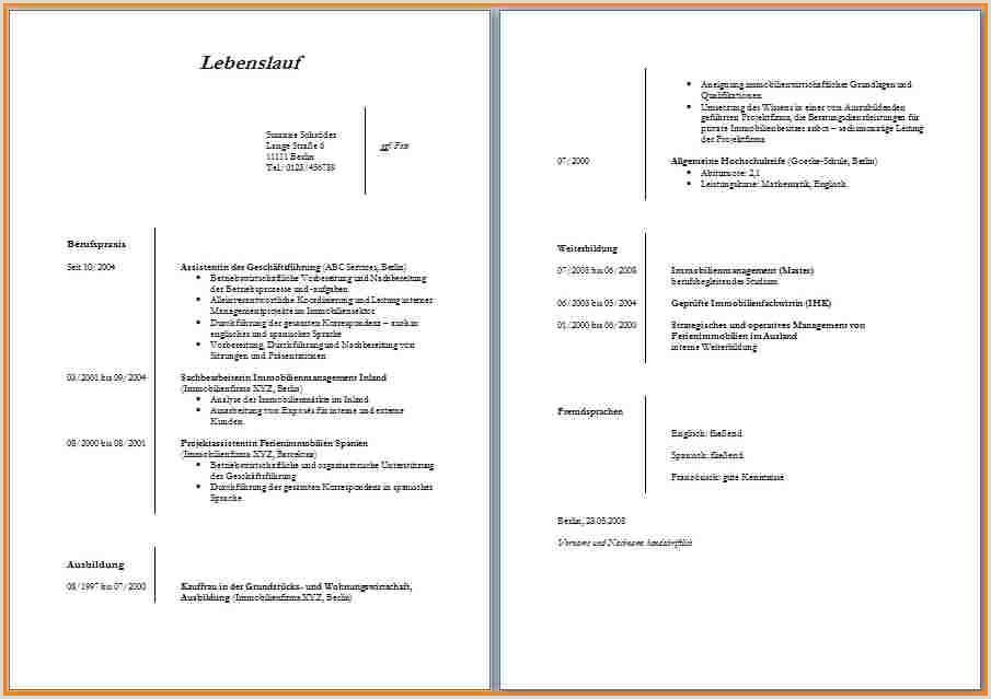 Lebenslauf Muster Tabelle 21 Lebenslauf Tabelle