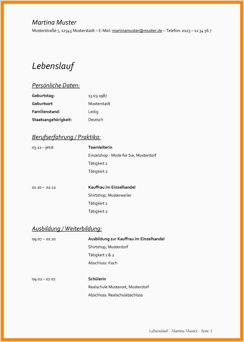 Lebenslauf Muster Tierarzt 17 Lebenslauf Koch Vorlage