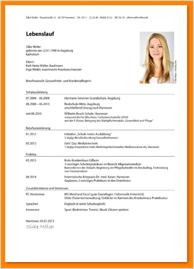 Lebenslauf Muster Uni Bewerbung 15 Lebenslauf Uni Muster
