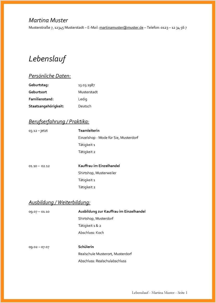Lebenslauf Muster Volljurist 15 Bewerbung 3 Seite Muster