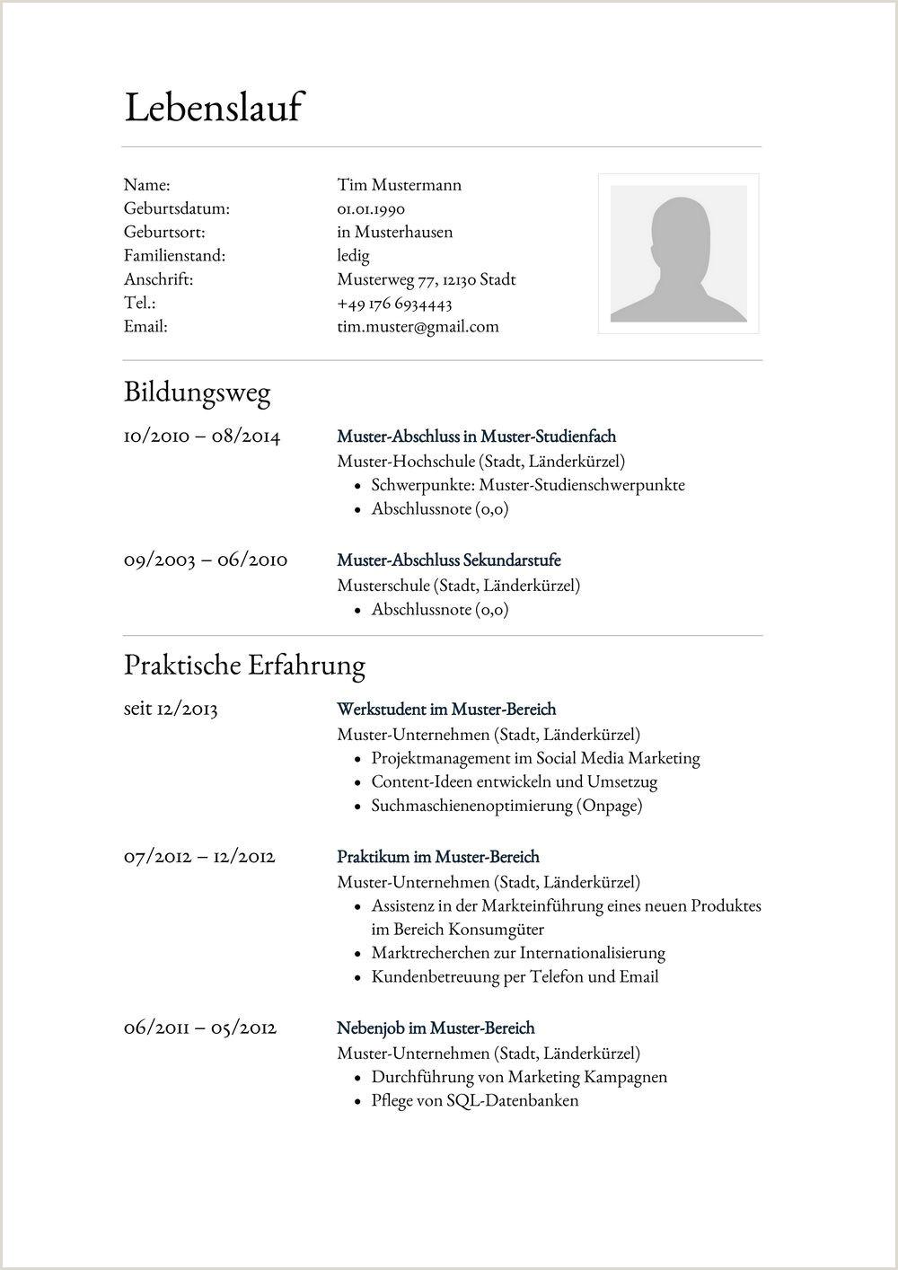 Lebenslauf Muster Wirtschaftsinformatik 15 Formular Tabellarischer Lebenslauf