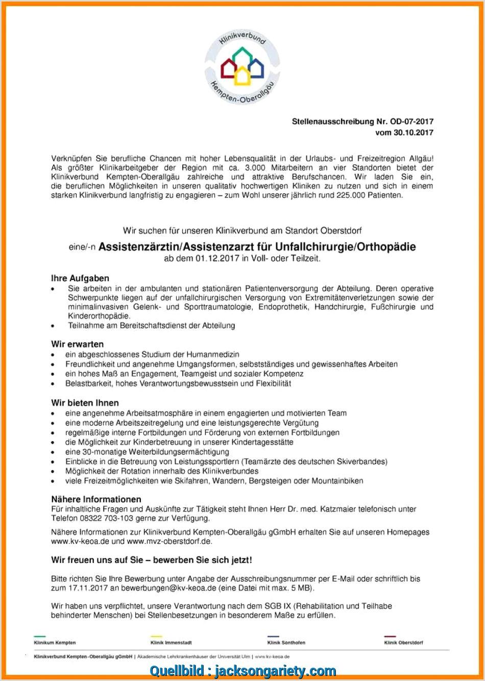 Original Bewerbung Abistenzarzt Assistenzarzt Od 07 Mvz