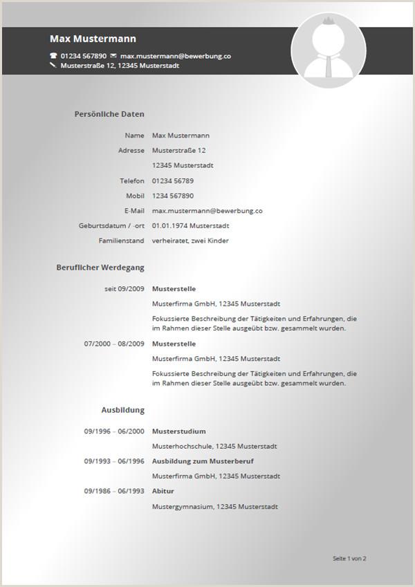 Lebenslauf Muster Word format 76 Free Lebenslauf Vorlage 2016 Word format Bewerbung