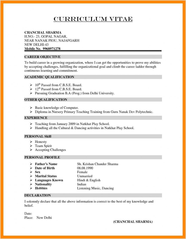 Lebenslauf Muster Word Pdf 10 Lebenslauf Englisch Vorlage Word