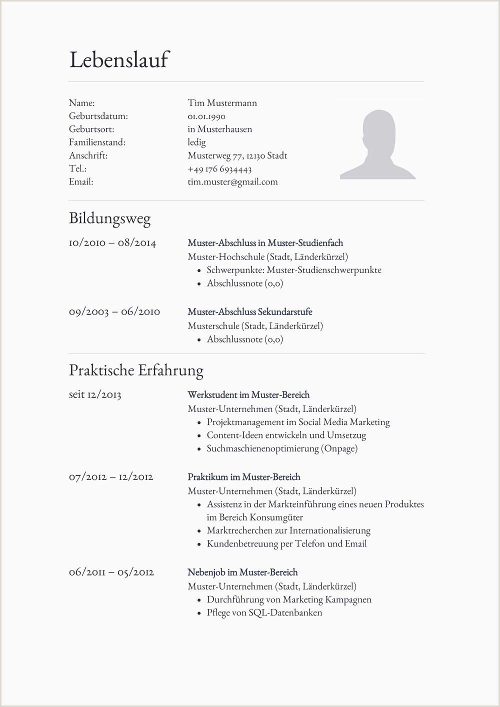 Lebenslauf Pdf 21 Tabellarischer Lebenslauf Muster Pdf